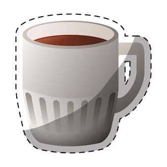 Image de conception de café couleur cuppa