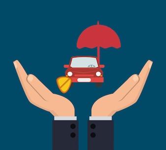 Image d'icônes connexes de services d'assurance