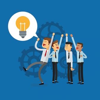 Image d'icônes liées au travail d'équipe