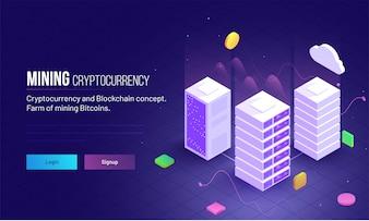 Image de héros réactive de Crypto-monnaie.