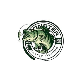 Image du logo de pêche vintage