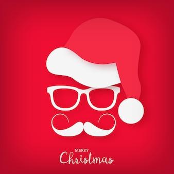 Image du père noël avec une moustache et des lunettes élégantes