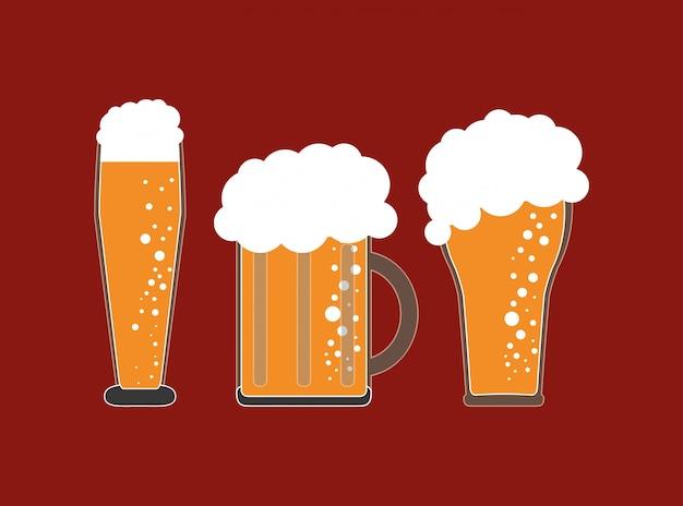 Image emblème de verre de bière