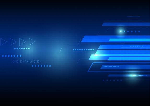 Image de fond de technologie bleue