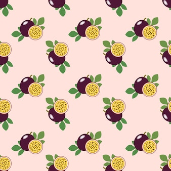 Image de fond transparente fruits tropicaux colorés fruits de la passion