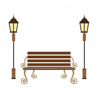 Image d'icône de banc de parc