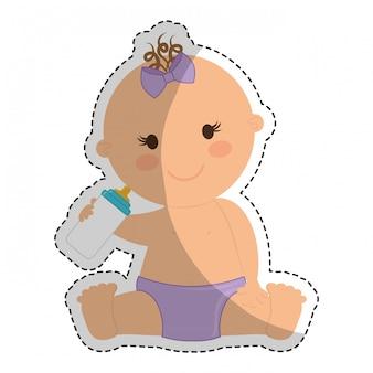 Image d'icône bébé heureux