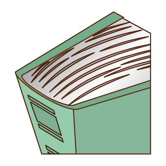 Image d'icône bleue grande encyclopédie