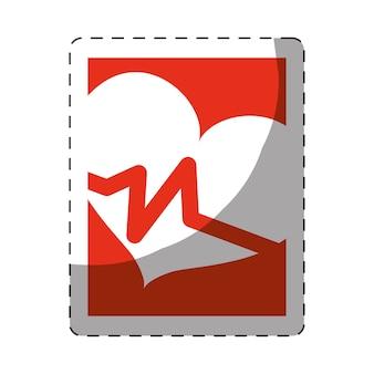 Image icône de cœur cardiogramme santé