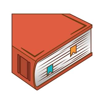Image d'icône encyclopédie orange