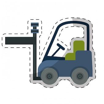 Image d'icône de fret de chariot élévateur