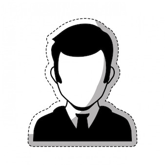 Image d'icône personne bussiness
