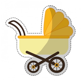 Image d'icône poussette bébé
