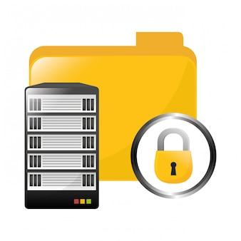 Image d'icône de stockage de centre de données