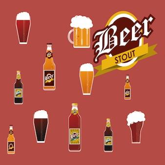 Image d'icônes connexes de bière