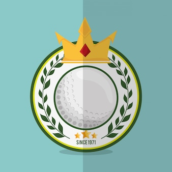 Image d'icônes liées au golf
