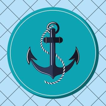 Image d'icônes liées à la vie marine nautique