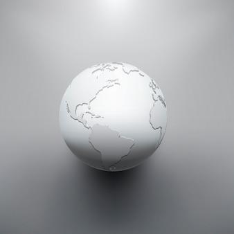 Image numérique de la terre du globe