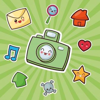 Image photographique de la caméra kawaii