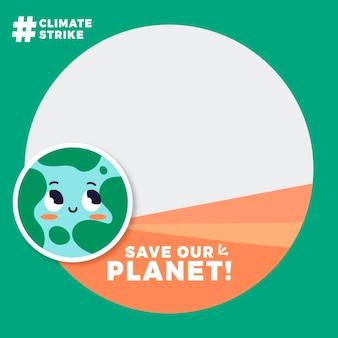 Image de profil sur le changement climatique cadre facebook