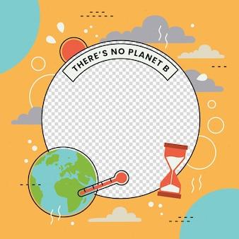 Image De Profil Sur Le Changement Climatique Cadre Facebook Vecteur gratuit
