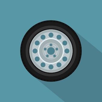 Image d'une roue de voiture, icône de style