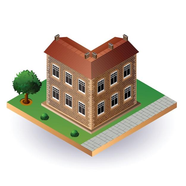 Image stylisée d'une vieille maison de ville