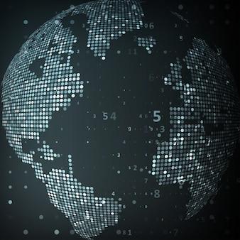 Image technologique de la carte du globe terrestre