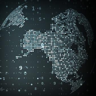 Image technologique du globe