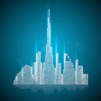 Image technologique de dubaï