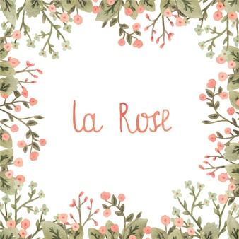 Image de vecteur aquarelle avec des fleurs dans un style romantique.