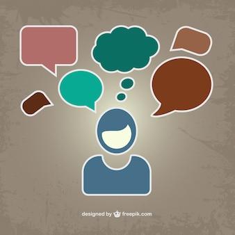 Image vecteur de communication
