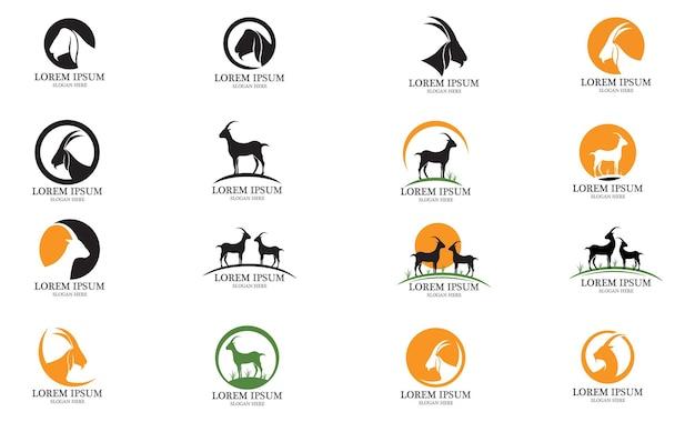 Image vectorielle de chèvre animal logo