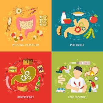 Image vectorielle digestion concept