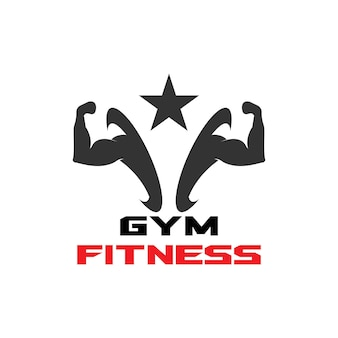 Image vectorielle de gym fitness santé personnes logo