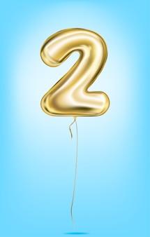 Image vectorielle de haute qualité des numéros de ballon en or