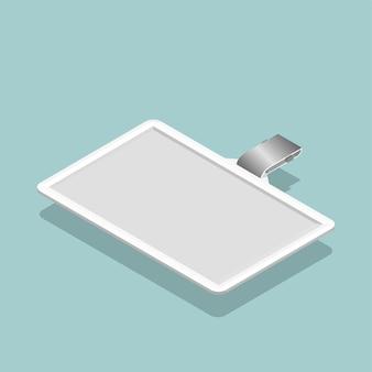 Image vectorielle de l'icône de la carte d'identité