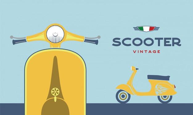 Image vectorielle scooter rétro