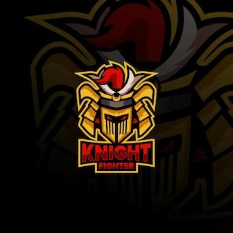 Image vectorielle de stock de knight mascot logo esport logo team