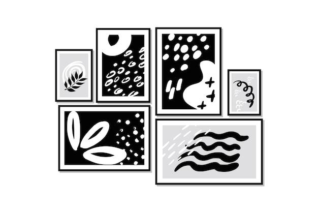 Images abstraites dans le cadre sur le mur de la pièce.