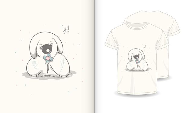 Images d'animaux mignons avec t-shirt pour bébé.