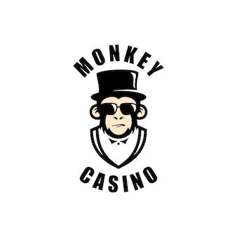 Images de logo de casino de singe