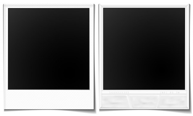 Images polaroid avant et arrière