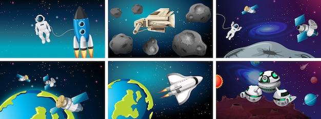 Immense scène spatiale