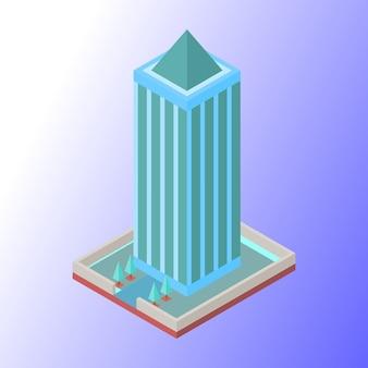 Immeuble d'affaires ou de bureau avec des couleurs douces