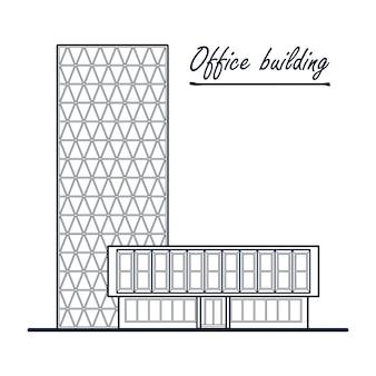 Immeuble de bureaux de grande hauteur. centre d'affaires.