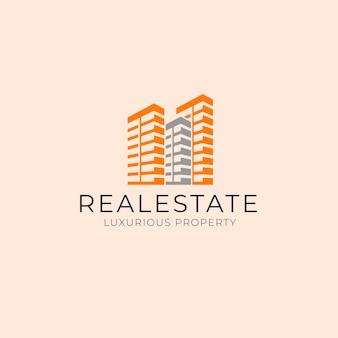 Immeuble simple de l'immobilier de luxe propriété d'entreprise modèle de conception de logo d'entreprise