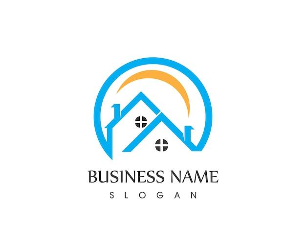 Immobilier et construction de logo de maison
