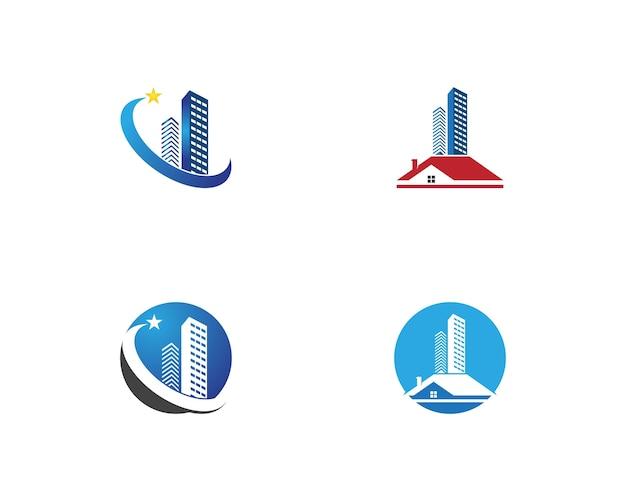 Immobilier et construction de maison logo modèle