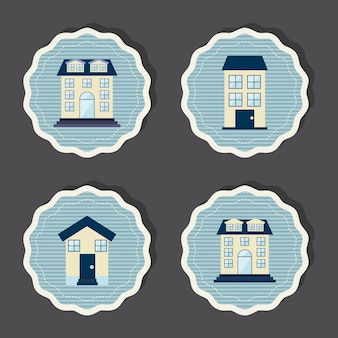 Immobilier sur fond